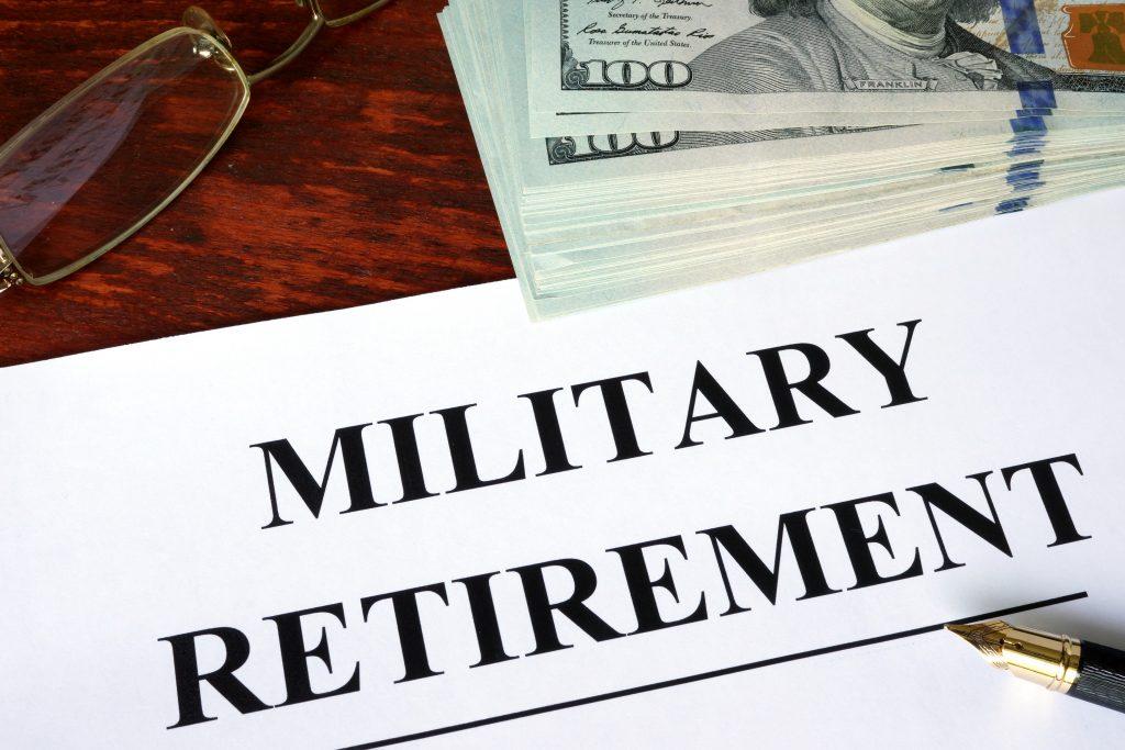 military retirement Virginia